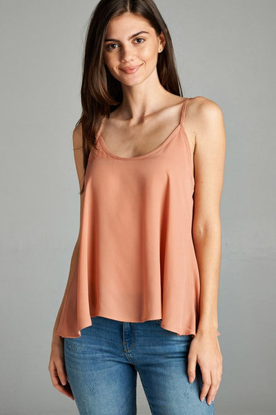 Clay Blush Loose Fit Cami Tank - Shoppin with Sailin
