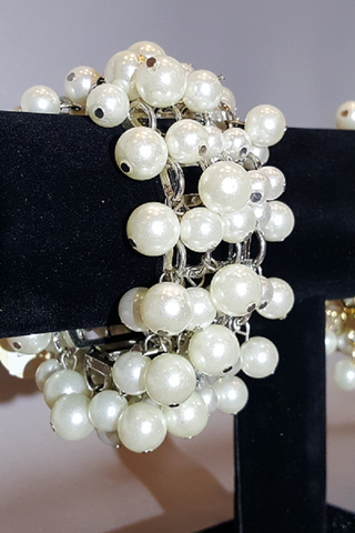 Dangle Pearl Bracelet with Silver