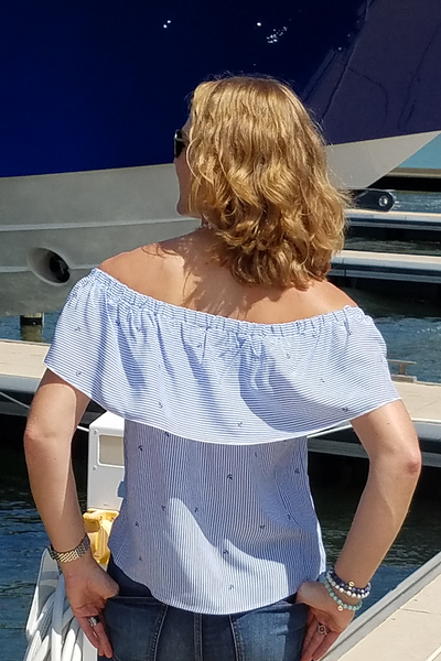 Harwich Off the Shoulder Anchor Top