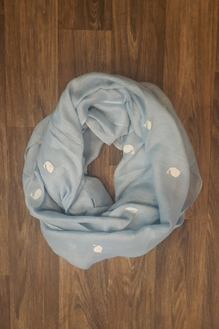 Light Blue Whale Infinity Scarf