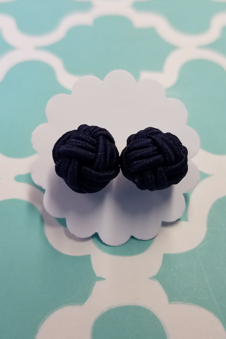 Nautical Knot Navy Earrings