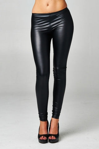 Super Hot Black Faux Leather Leggings