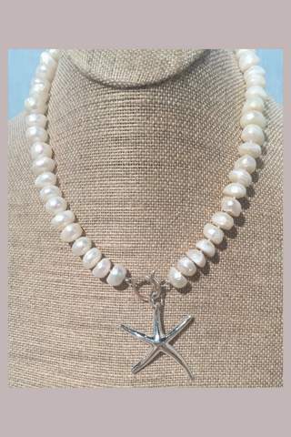 Pearls of the Sea Starfish Necklace - Shoppin with Sailin