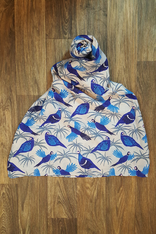 Gorgeous Blue Pheasant Scarf - Shoppin with Sailin