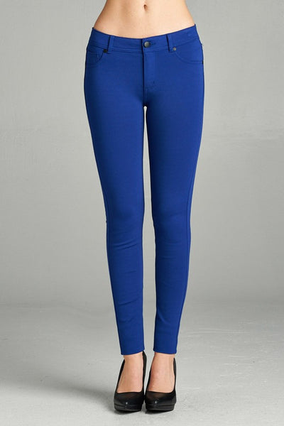 Royal Blue Skinny Ponte Pants - Shoppin with Sailin