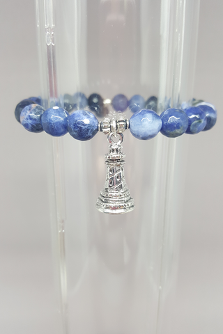 Savvy Designs Lighthouse Charm Bracelet Sodalite - Shoppin with Sailin