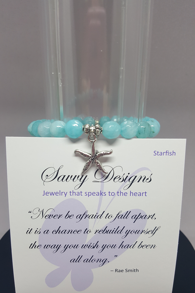 Savvy Designs Starfish Charm Bracelet Tiffany Blue - Shoppin with Sailin