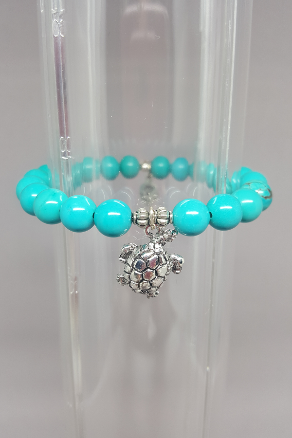 Savvy Designs Turtle Charm Bracelet Turquoise - Shoppin with Sailin