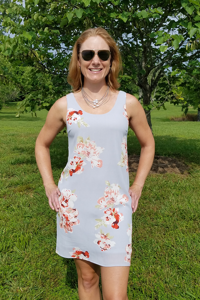 Shades of Grey Floral Dress