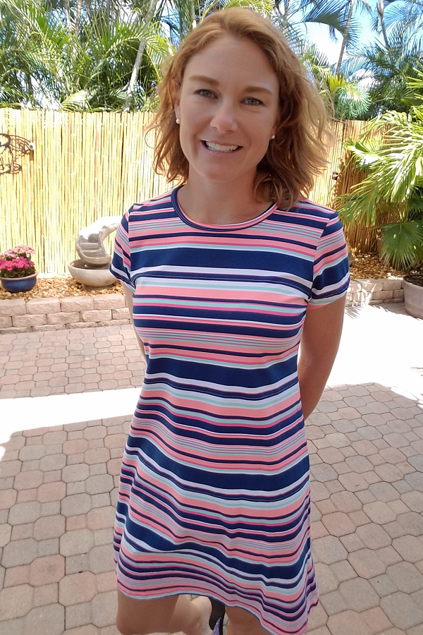 Striped Tee Shirt Dress - Shoppin with Sailin