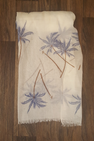 Sunny Florida Palm Tree Scarf - Shoppin with Sailin