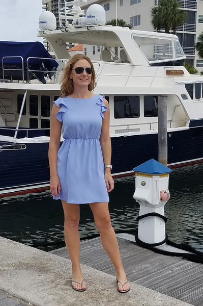 The Periwinkle Blue Ruffled Sleeve Dress - Shoppin with Sailin