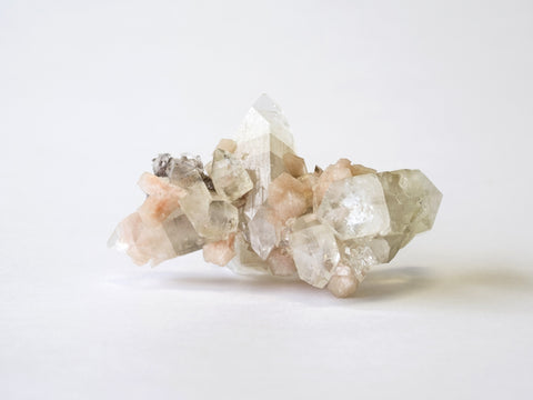 Stilbite and Apophyllite crystal