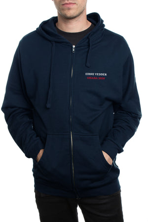 Eddie Vedder 2020 Surf Association Zip Hoodie Navy