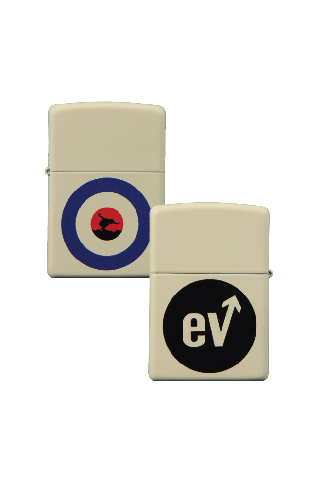 Eddie Vedder Arrow Zippo Lighter Cream