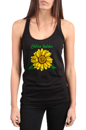 Eddie Vedder Sunflower Tour Racerback Tank Top Black
