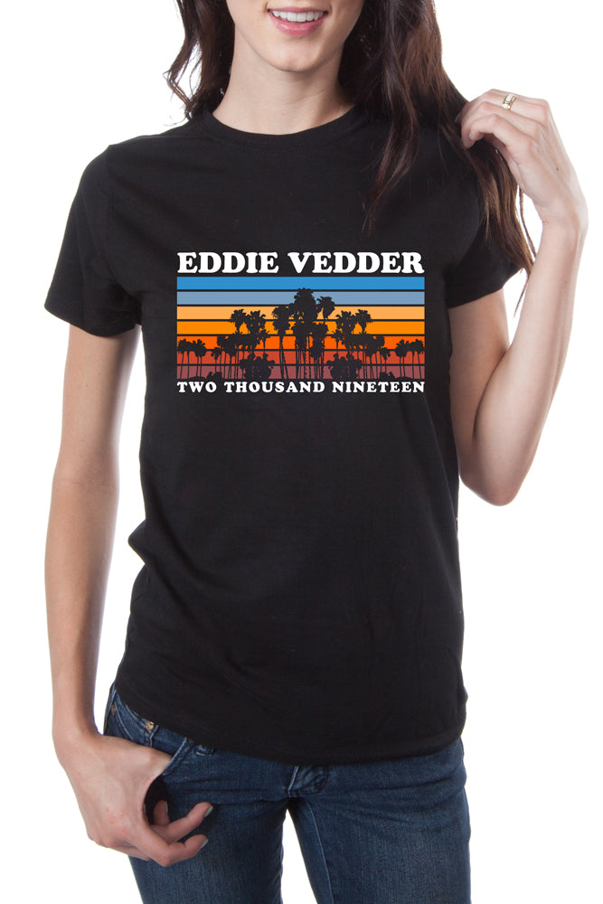 Eddie Vedder Sunset Palm Tour Tee Black
