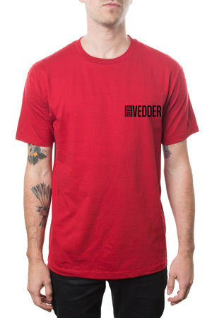 Eddie Vedder World Record Tour Tee Red