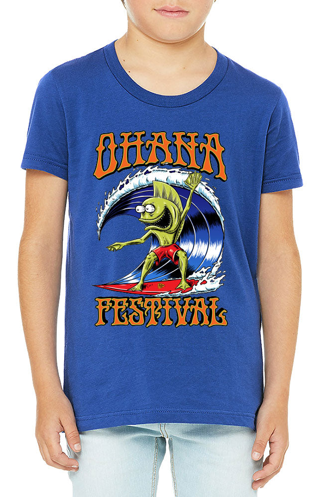 Ohana Festival Fishman Kids Tee Royal