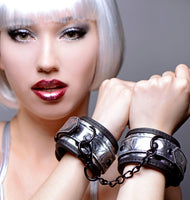Cuffed Embelished Metallic Wrist Cuffs