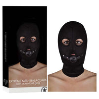 Ouch! Extreme Mesh Balaclava With Open Ball Gag