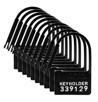 Keyholder 10 Pack Numbered Plastic Chastity Locks (Silver)