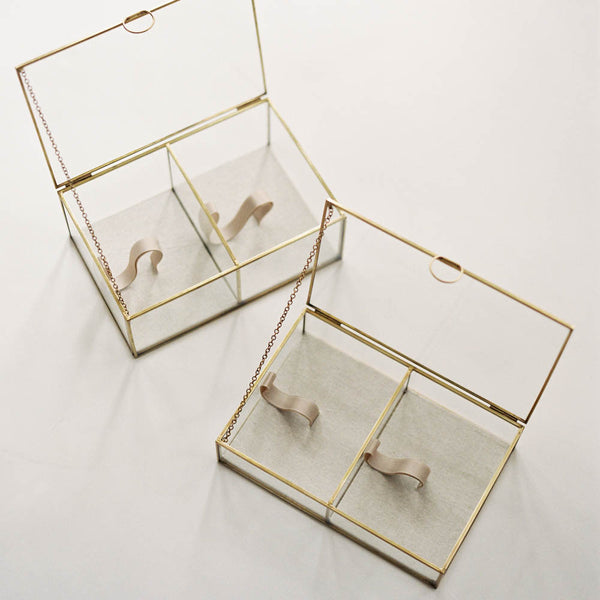 Glass and Gold Print Box, Double