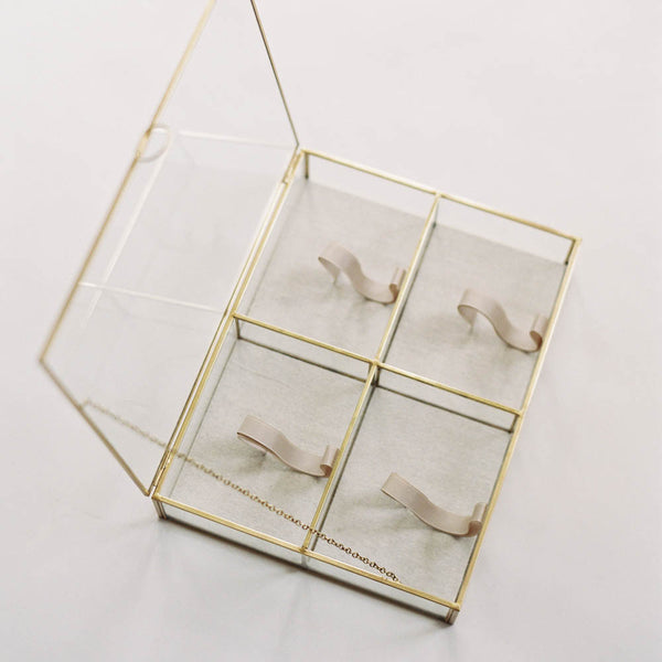 Glass and Gold Print Box, Quad