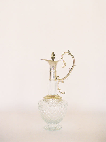 Antique Silver and Crystal Carafe