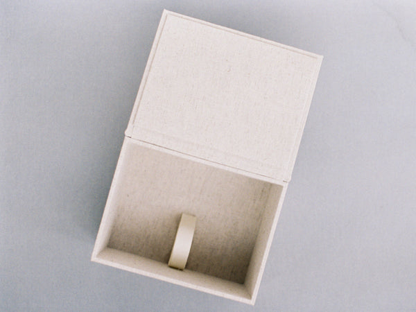 SALE - 150-Print Box in Light Linen with 24k Olive Twig