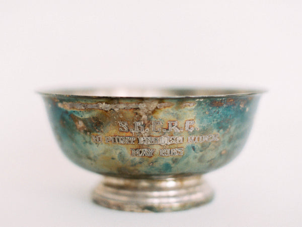 "6.5"" Silver Engraved Centerpiece Bowl"