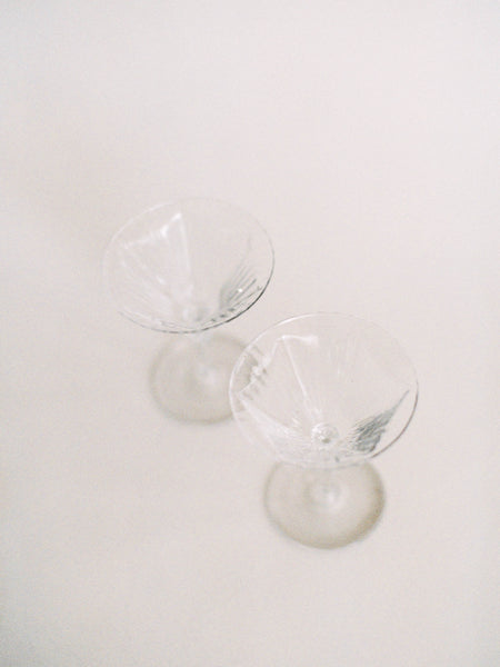 SALE - Pair of Delicate Morning Glory Coupes