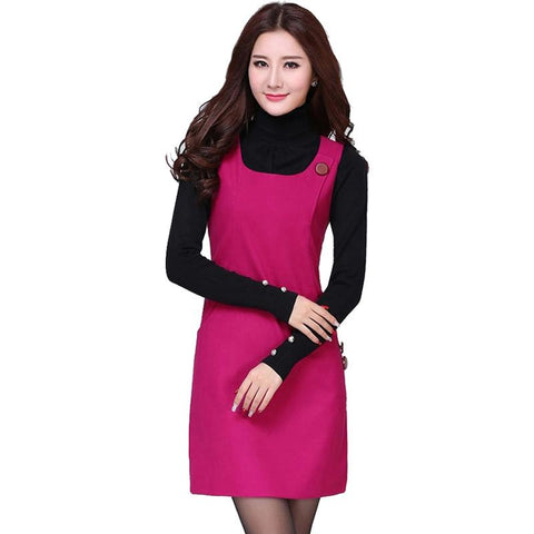 Autumn Winter Woolen Dress for Women