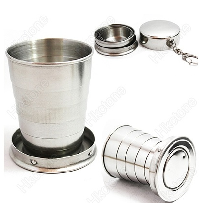 Stainless Steel Folding Collapsible Travel Cup