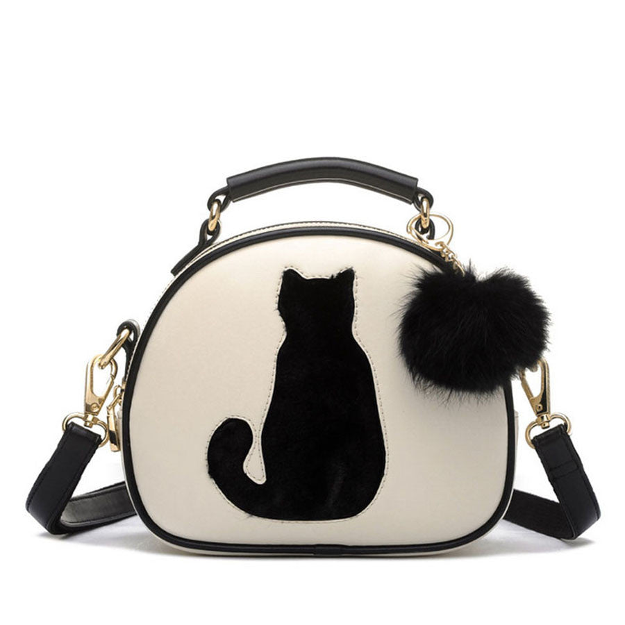 Full Moon Candy Color Cute Cat  Women Handbag