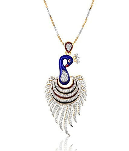 Supreme Peafowl Pendant Earrings Set With Free Chain