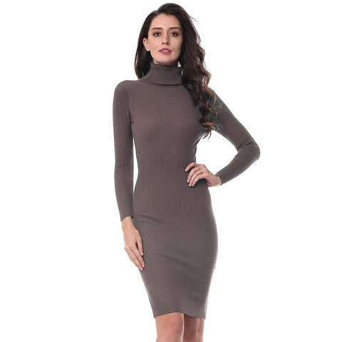 Long Sleeve Sexy Lady Bodycon Robe Dresses