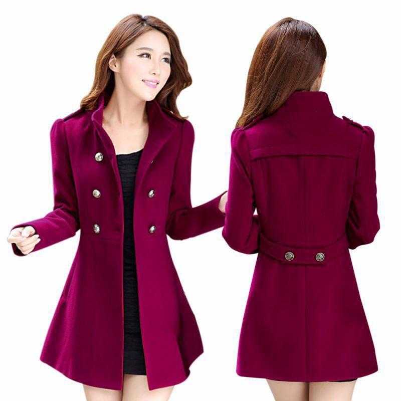 Female Outwear Slim Casual Overcoat