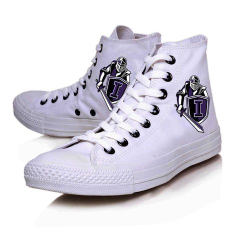 Knights Shield High Top Canvas White