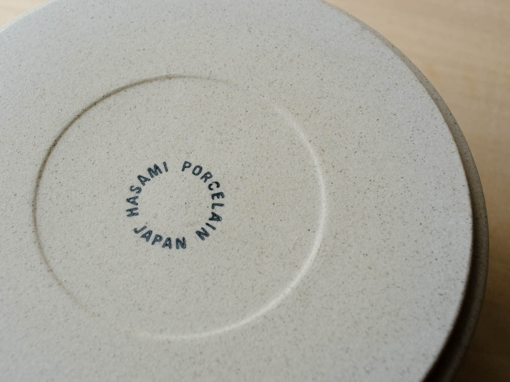 hasami porcelain plate bowl bottom