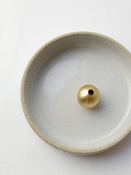 solid brass ball incense holder stand