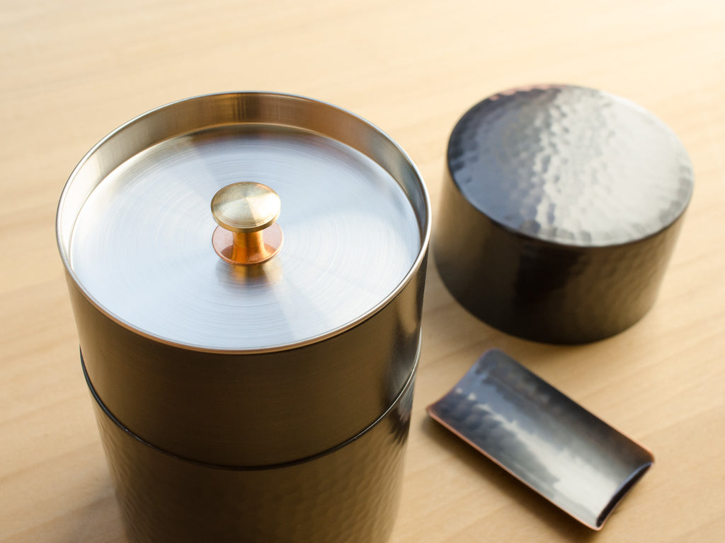 Hammered Copper Tea Canister