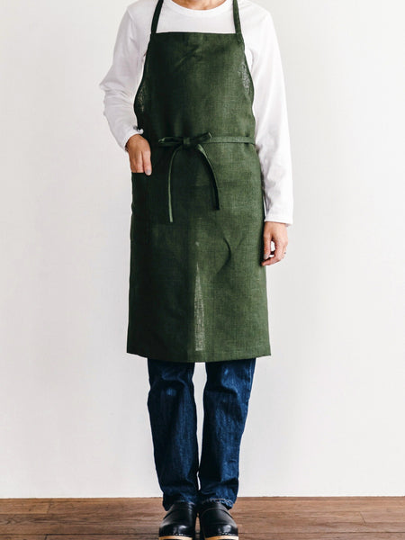 Daily Linen Apron | Forest