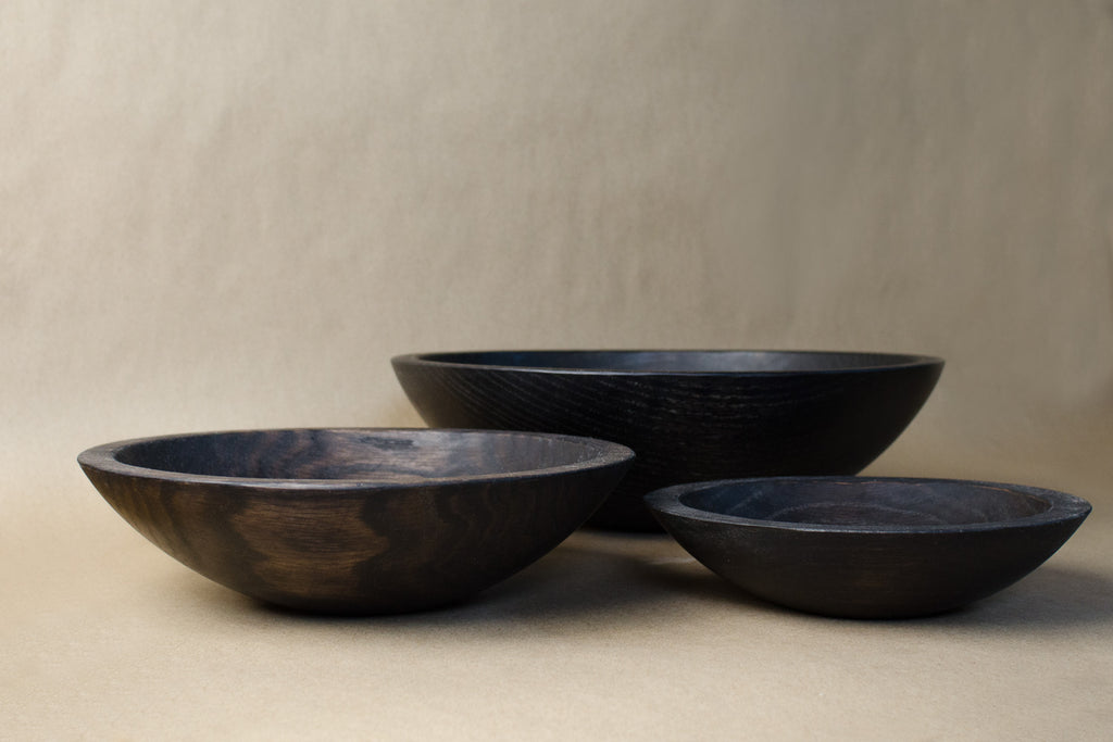 Ebonized Oak Bowls