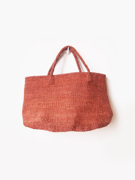 XL Sisal Tote Basket | Canyon Red