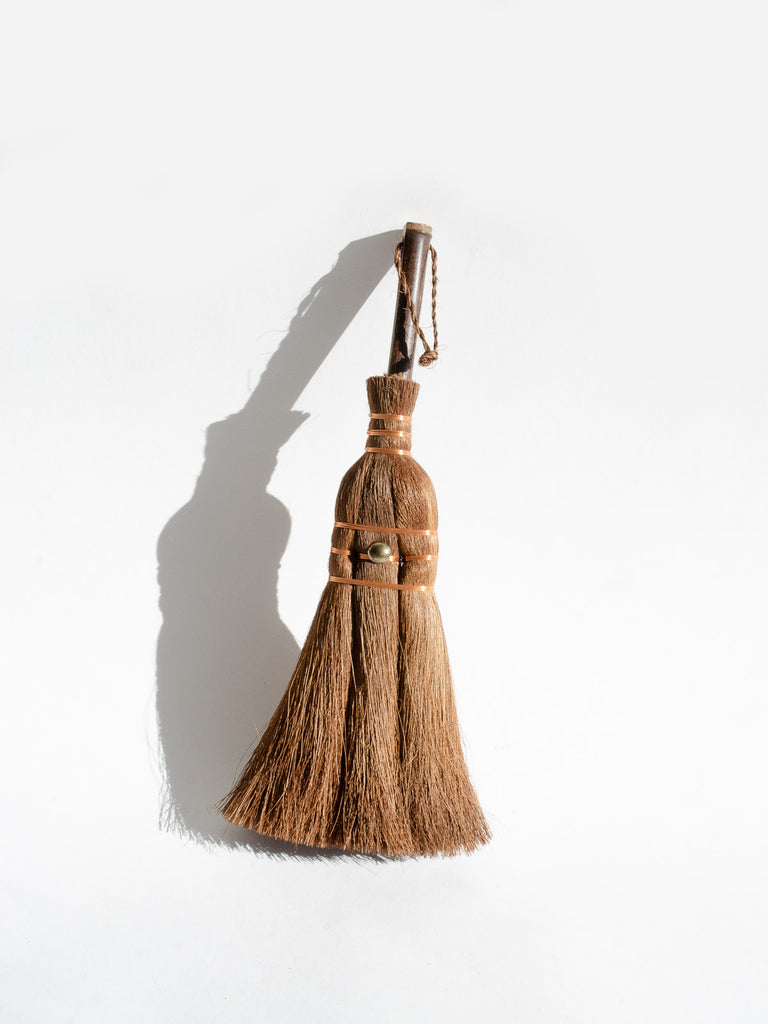 Palm & Copper Hand Broom