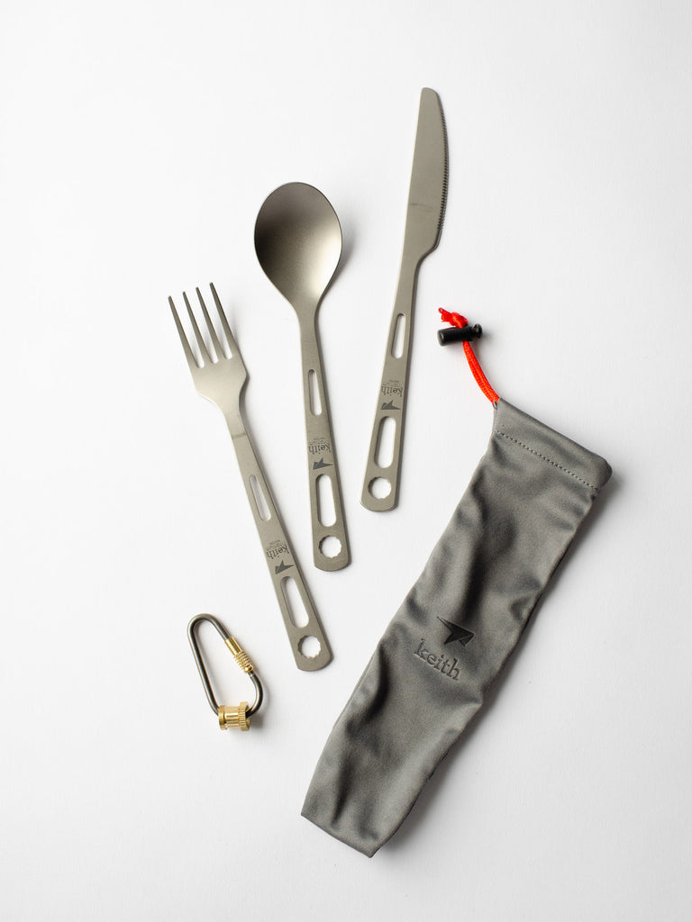 3-Piece Titanium Cutlery Set