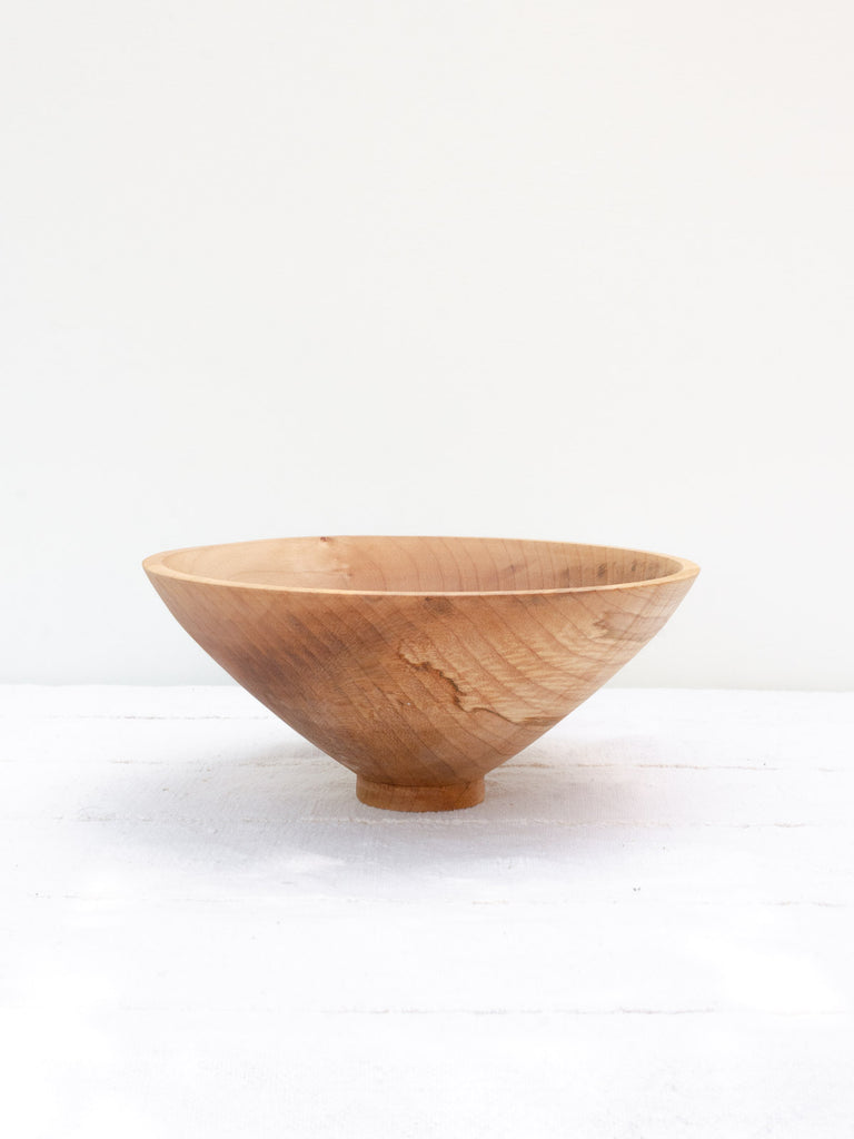 Deep Maple Serving Bowl