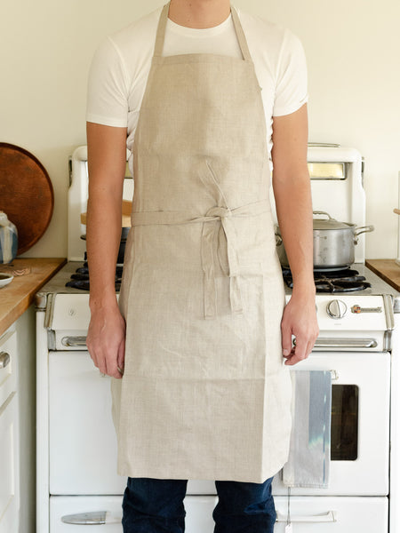 Belgian Linen Apron in Natural