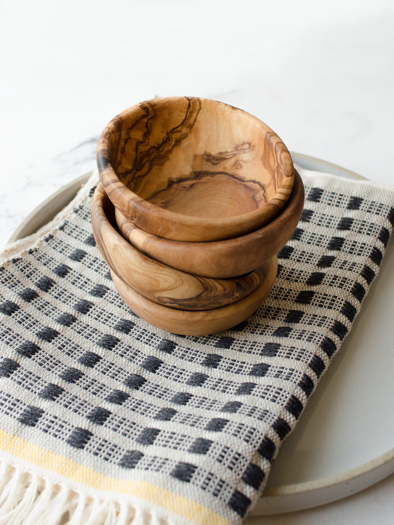 Olive Wood Pinch Bowl